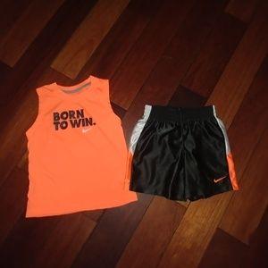 "Nike ""BORN TO WIN"" baby short set NWOT"